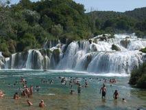 Skradinski Buk, cachoeira de KRKA Foto de Stock Royalty Free