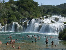 Skradinski Buk, KRKA Waterfall Royalty Free Stock Photo