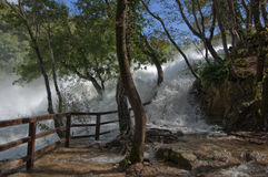 Skradinski buk. Nacional park Krka River waterfall Skradinski Buk with full of water Stock Images