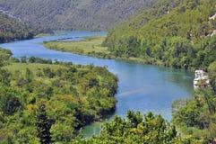 Skradinski buk top view. Krka National Park Royalty Free Stock Photos
