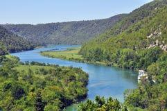 Skradinski buk top view. Krka National Park Stock Images
