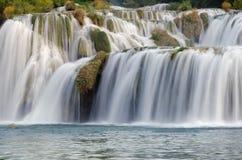 Skradinski Buk - vattenfall i den Krka nationalparken mig Royaltyfria Foton