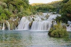 Skradinski Buk - vattenfall i den Krka nationalparken mig Arkivfoton