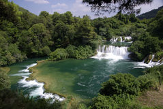 Skradinski buk waterfall, Croatia Stock Photos