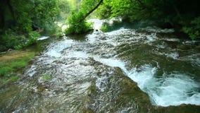 Skradinski Buk, waterfall in national park Krka stock video
