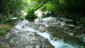Skradinski Buk, waterfall in national park Krka. Beautiful landscape in Krka national park. Europe stock footage