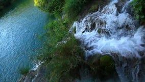 Skradinski Buk, waterfall in national park Krka, m stock video