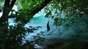 Skradinski Buk, waterfall in national park Krka, m stock footage