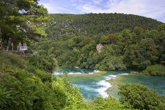 Skradinski Buk - world famous waterfall Royalty Free Stock Image