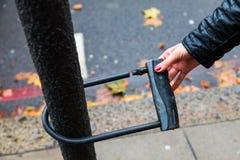 Skradziony rower zdjęcia stock