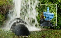 Skradziony wodnej drymby klapy złącze z wszywki fotografią, Obrazy Royalty Free