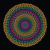 Etnisk design för färgrikt cirkulär Royaltyfri Fotografi