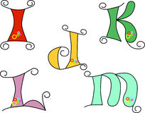 Skraj alfabet royaltyfri illustrationer