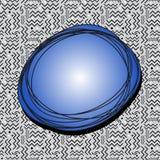 Skraj anförandebubbla på Gray Memphis Pattern Royaltyfria Foton