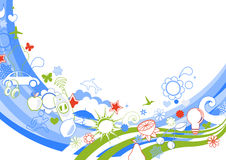 skraj bakgrund royaltyfri illustrationer