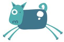 skraj blå hund vektor illustrationer