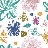Skraj blom- modell med bin stock illustrationer