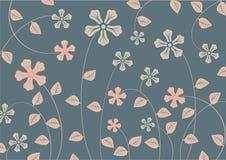 Skraj blommor royaltyfri illustrationer