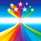 Skraj Celebratory stjärnor Royaltyfri Bild