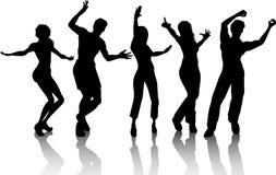 skraj dansare stock illustrationer