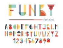 Skraj färgrikt alfabet stock illustrationer