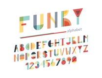 Skraj färgrikt alfabet royaltyfri illustrationer