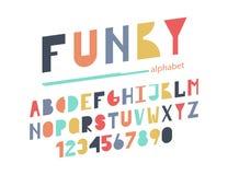 Skraj färgrikt alfabet vektor illustrationer