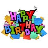 Skraj födelsedagstil vektor illustrationer