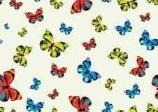 skraj fjärilar stock illustrationer