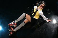 skraj flicka för dansgolv Royaltyfria Foton