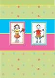 skraj flicka för pojke Royaltyfria Foton