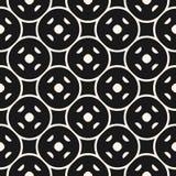Skraj geometrisk sömlös modell för vektor med det runda ingreppet svart white royaltyfri illustrationer