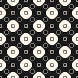 Skraj geometrisk sömlös modell med cirklar och fyrkanter royaltyfri illustrationer