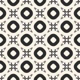 Skraj geometrisk sömlös modell med cirklar och cirklar i runt galler royaltyfri illustrationer