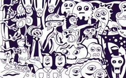 Skraj gigantisk collage royaltyfri illustrationer