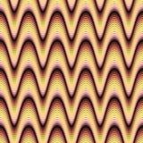 skraj glödande waves stock illustrationer