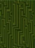 skraj grön tappning för tyg Arkivfoto