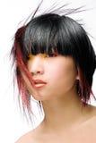 skraj hår Arkivbild