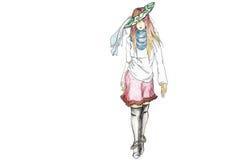 skraj modell för mode vektor illustrationer