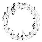 skraj musik för bakgrund Royaltyfria Foton