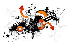 skraj musiksmak stock illustrationer