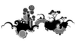 skraj natur för bakgrund stock illustrationer