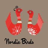Skraj nordiska fåglar royaltyfri illustrationer