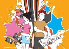 skraj ny deltagare stock illustrationer