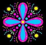 skraj pink för blå blomma Arkivfoton