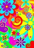 skraj psychedelic för bakgrund stock illustrationer