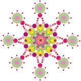 skraj purpur retro snowflake royaltyfri illustrationer