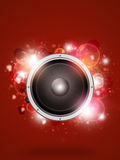 Skraj röd musikbakgrund royaltyfri illustrationer