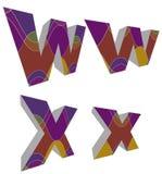 skraj retro för alfabet 3d stock illustrationer