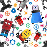 Skraj robotbakgrund stock illustrationer